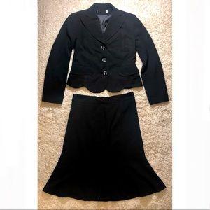 Size medium black jacket & skirt set
